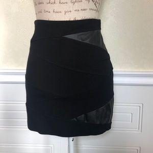 Aritzia Talula Black Mini Skirt Faux Leather